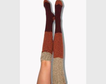 dcc7da2eaa2 Starwars Cosplay Thigh High Socks Wine Black Oatmeal The Force
