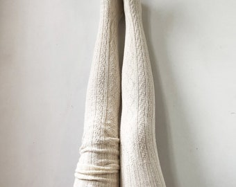 60c908d35 Boho Accessories Hippie Chic Bohemian Thigh High Socks Knitted Sweater Socks  Women s Long Over the Knee Eco Friendly PM-088I Lingerie Unique