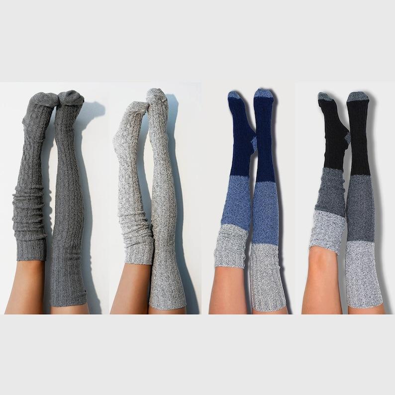 2a1d3d55a68 Thigh High Socks 4pk Grey And Ombré Bridesmaid Gift Socks