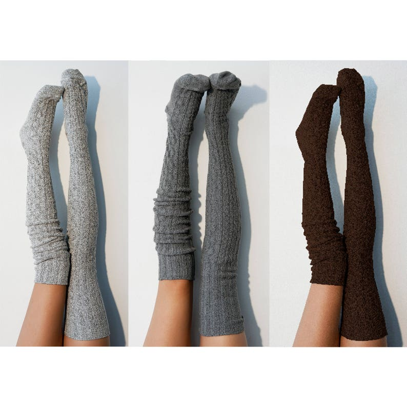 d8e98b4da Bridesmaid Gift Thigh High Socks Pack of 3 Womens Boot Socks