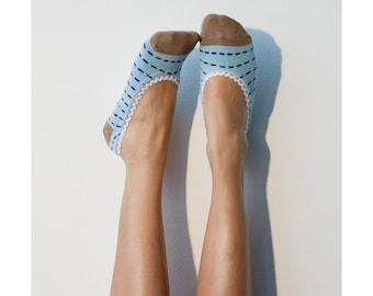 Striped Patterned Liner Socks, PM-052