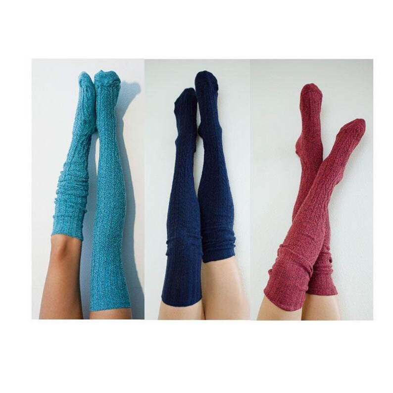 0f15166b8fa Cosplay Wonder Woman Super Hero Socks Fantasy Thigh High Socks