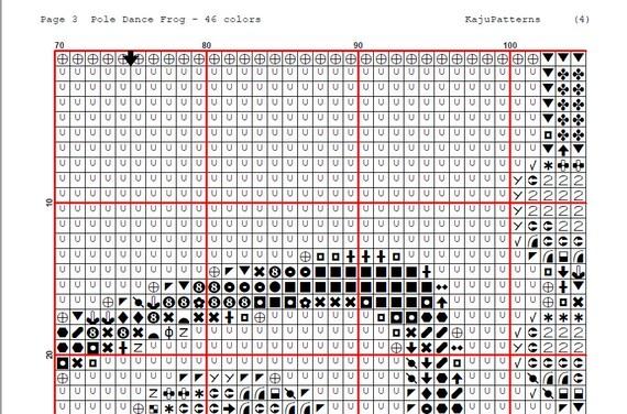 Pole Dancing Frog Cross Stitch Pattern Pdf Dmc Color Chart Etsy