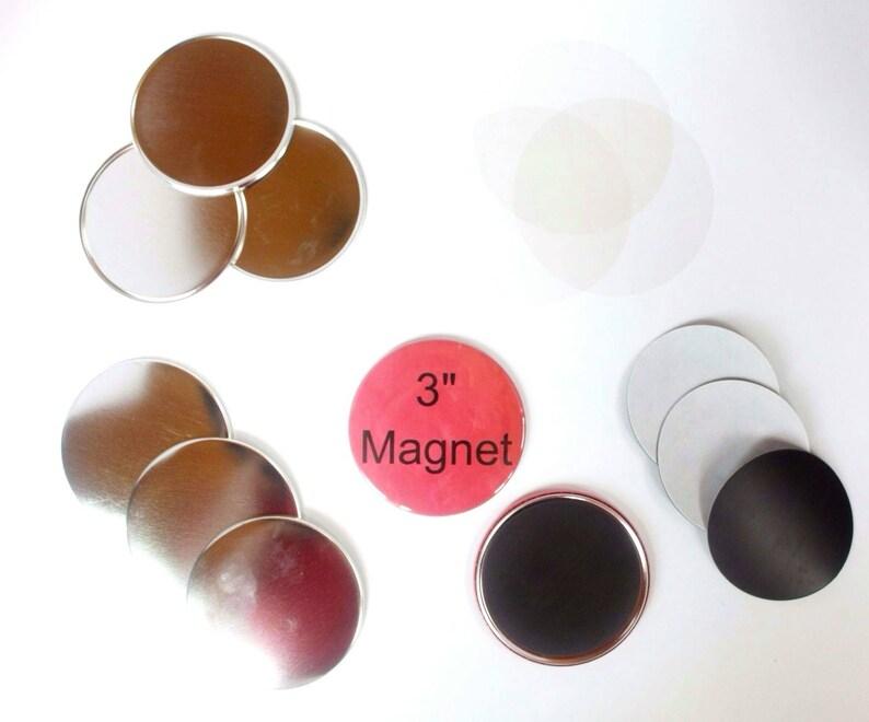 Tecre Button Press 3 Inch Magnet 3 Button Maker Machine Supplies 50 Complete Button Sets Magnet Buttons
