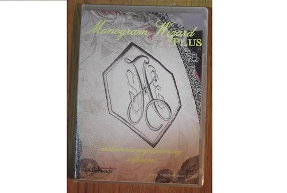 Monogram Wizard Plus Embroidery Custom Monogramming Software Etsy