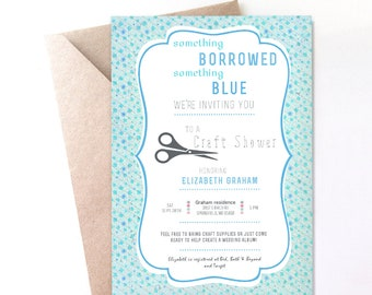 Bridal Craft Shower Invite- 5x7 PRINTABLE JPG or PDF