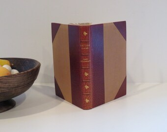 British Wildlife, Rare Book, British Game, Fine Leather Binding Antiquarian Book, Hunting Game Birds Deer, Hunting Gift   Gilt Pages 1946