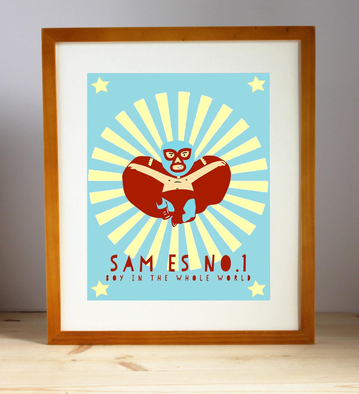 Vivero de Nacho Libre impresión infantil sala arte para | Etsy