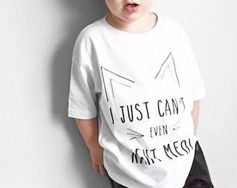 c8455938671 Cat Shirt, Kitten Shirt, Hipster Kids Clothes, Toddler Shirts, Unisex Kids  Clothing, Kids Graphic Tee, Boys Shirts, Girls Shirts, Kids Shirt