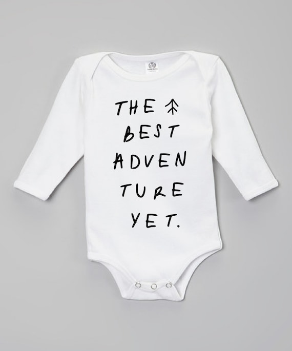 b08018dda4ee New Baby Gift Baby Take Home Outfit Adventure Onesie