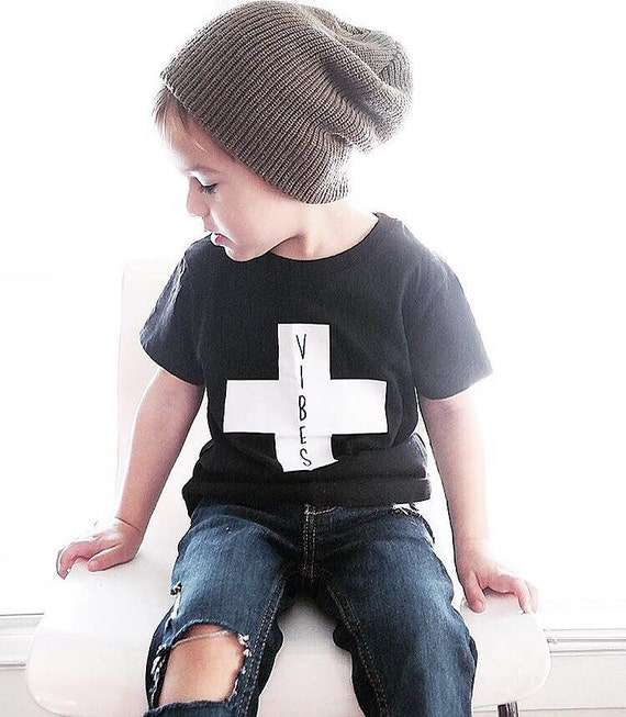 Children S Positive Vibes Tee Hipster Baby Clothes Etsy