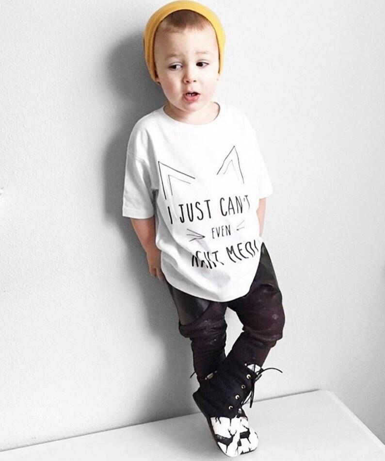 5f2519f06 Cat Shirt Kitten Shirt Hipster Kids Clothes Toddler Shirts | Etsy