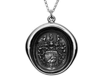 Heraldic Ram Wax Seal Pendant
