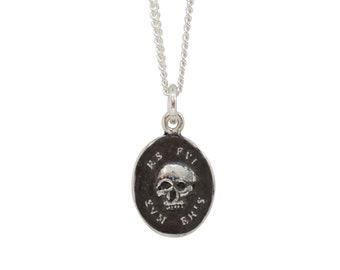 """MEMENTO MORI SKULL """"Coin"""" Seal Pendant"""
