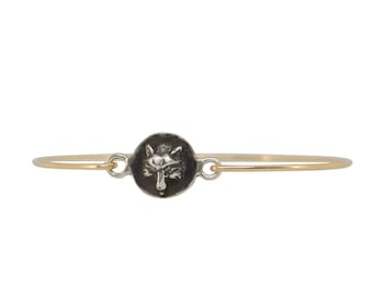 Fox Head Seal Bangle Bracelet
