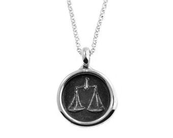 Libra Zodiac Wax Seal Pendant