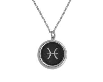 Pisces Symbol Zodiac Pendant