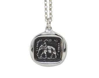 Strong & Noble Elephant Wax Seal Pendant