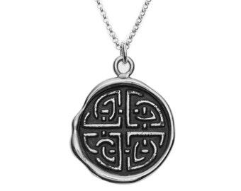 Celtic Shield Knot Wax Seal Pendant