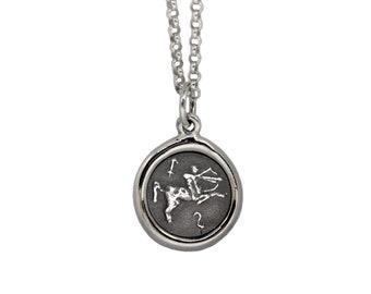 Sagittarius Centaur Zodiac Mini Wax Seal Pendant
