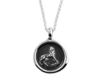 Leo Zodiac Wax Seal Pendant