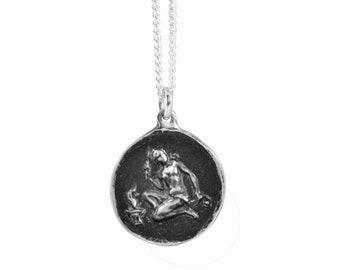 Virgo Zodiac Coin Pendant