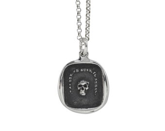 MEMENTO MORI Skull- Rectangle Wax Seal Pendant