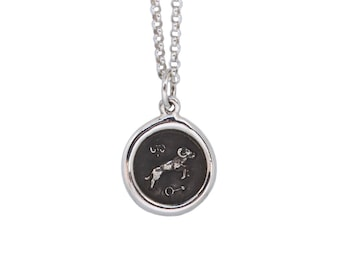 Aries Zodiac Mini Wax Seal Pendant