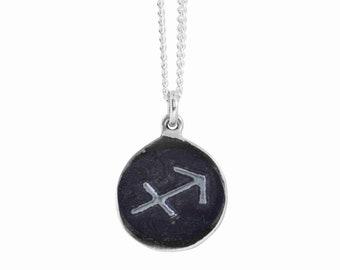 Sagittarius Zodiac Symbol Coin Pendant