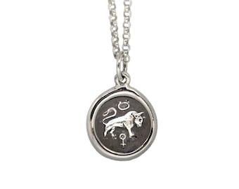 Taurus Zodiac Mini Wax Seal Pendant