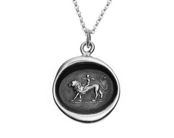 """Cupid """"Love Conquers All"""" Wax Seal Pendant"""
