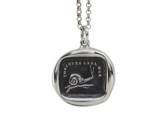 Slow & Steady Snail Wax Seal Pendant