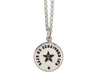 FOLLOW YOUR STAR- Star- Double Sided Intaglio Pendant