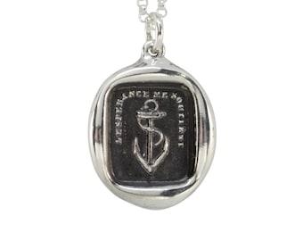 Anchor & Motto Wax Seal Pendant