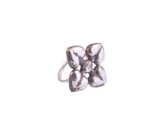 Heart Petals Diamond Ring