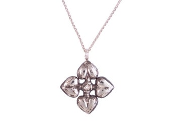 Heart Petals Diamond Pendant