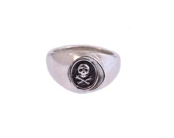 Skull & Crossbones Wax Seal Signet Ring