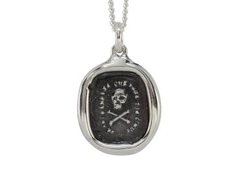 Skull & Crossbones- Rectangle Wax Seal Pendant