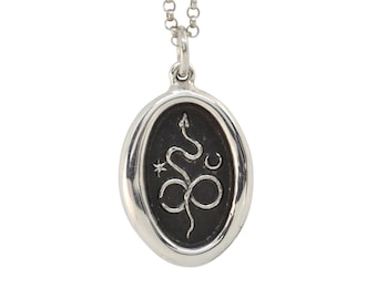 Celestial Infinity Snake Wax Seal Pendant