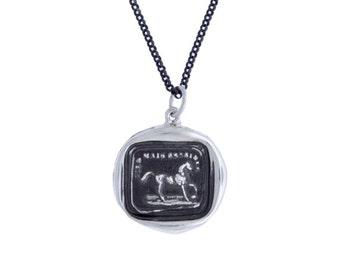Horse & Motto- Wax Seal Pendant