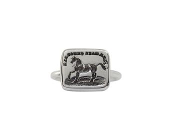 Spirited Horse Intaglio Ring