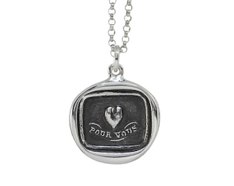 My Heart's For You Wax Seal Pendant