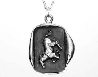 Running Stallion Wax Seal Pendant