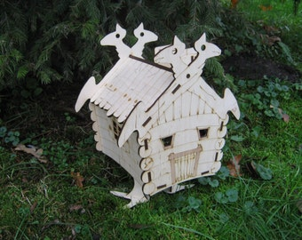 Box for candy and gifts - hut on chicken legs - Baba Yaga house