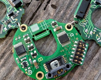 Green Circuit Board Computer Nerdy Handmade Unique Necklace