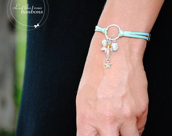 The beach white and yellow pearl bracelet