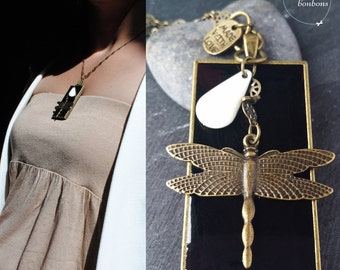 "Dragonfly necklace ""Amanda"""