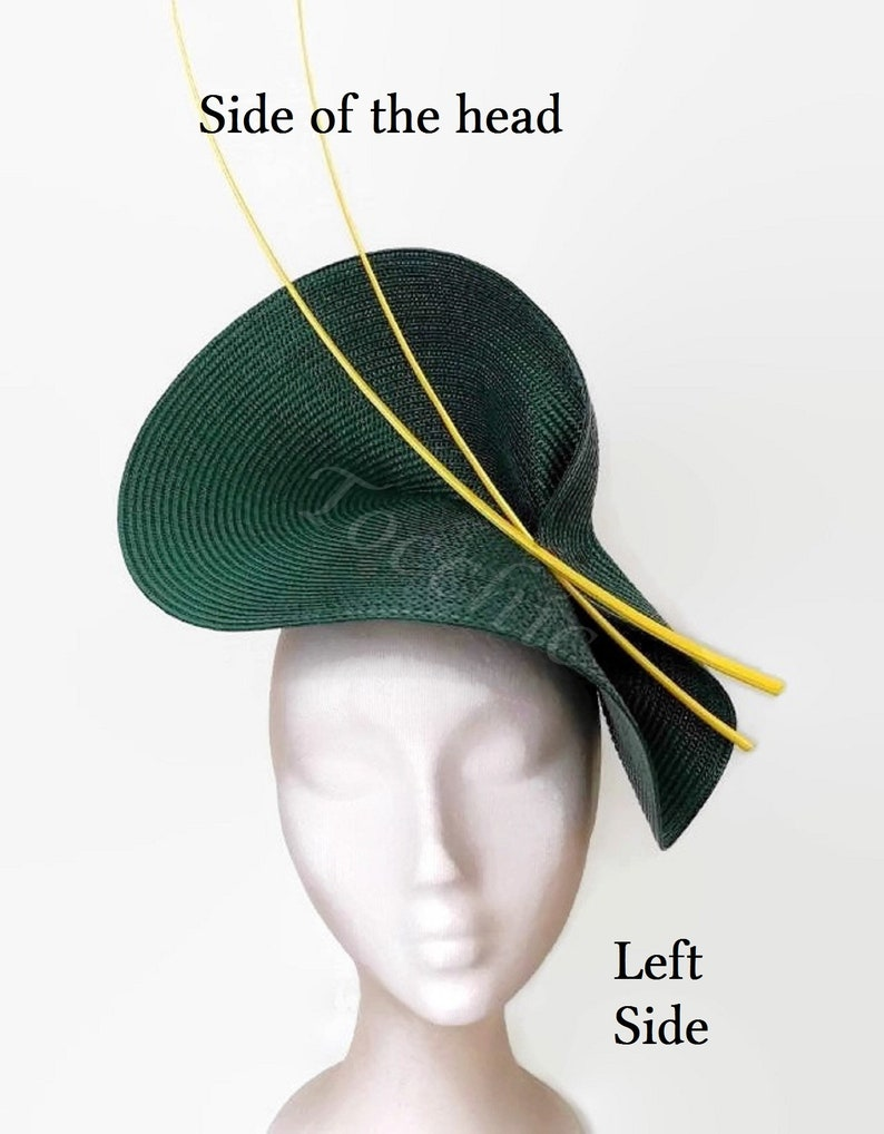 Green and Yellow fascinator Yellow derby fascinator kentucky derby hat green wedding hat ladies day green hat tea party ascot hat green