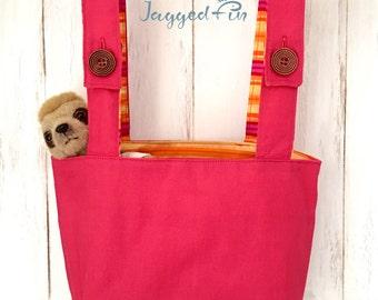 Bunkbed storage bag pink, pink peg bag, wardrobe storage, bunk bed storage, peg bag, kids storage ideas, clothespin bag, peg bag Australia