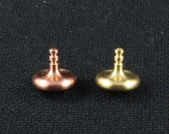 Focus 5 Copper and Brass Spinning Top Pair